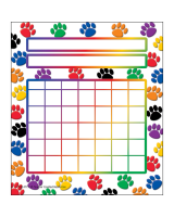 Colorful Paw Prints Incentive Chart TCR4773
