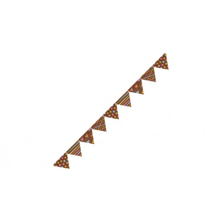 Dots On Chocolate Pennants CTP6994