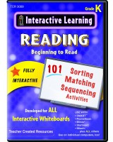 Interactive Learning: Beginning to Read: Grade K