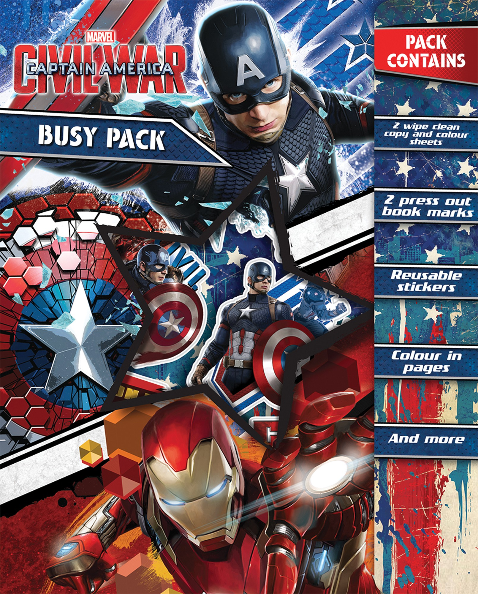 Busy Pack - Captain America. Civil War - English Wooks